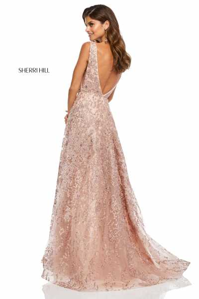 Sherri Hill 52877 Has Straps and V-Shape picture 1