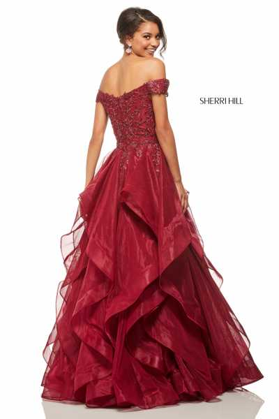Sherri Hill 52880 Off The Shoulder picture 1