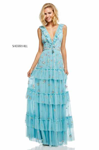 Sherri Hill 52884 Has Straps and V-Shape picture 1
