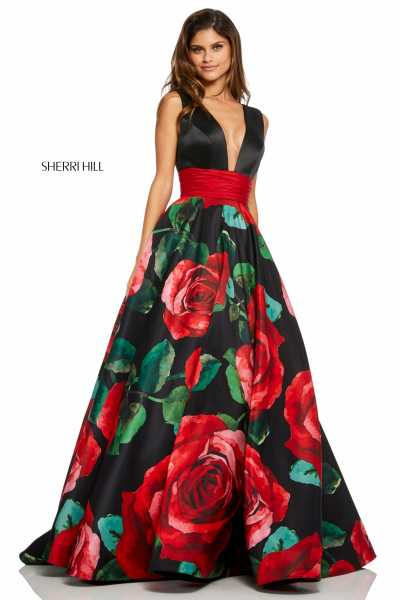 Sherri Hill 52898 Has Straps and V-Shape picture 1