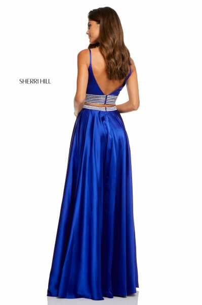 Sherri Hill 52907 Has Straps and V-Shape picture 1