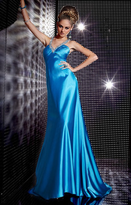 Studio 17 12230 Satin Sequin Gown Prom Dress