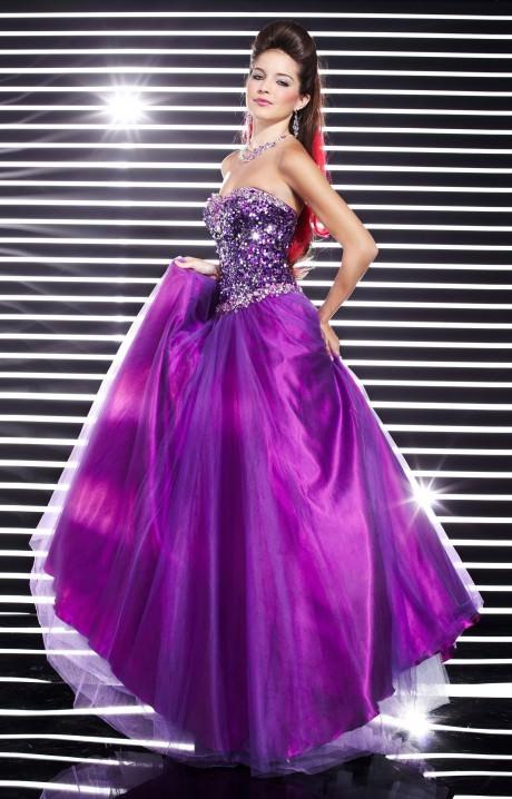 Studio 17 12320 Sequin Ball Gown Prom Dress