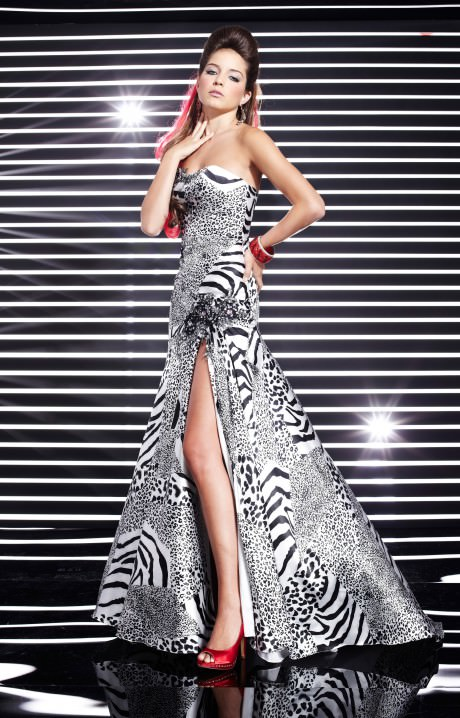 Studio 17 12283 Print Party Gown Prom Dress