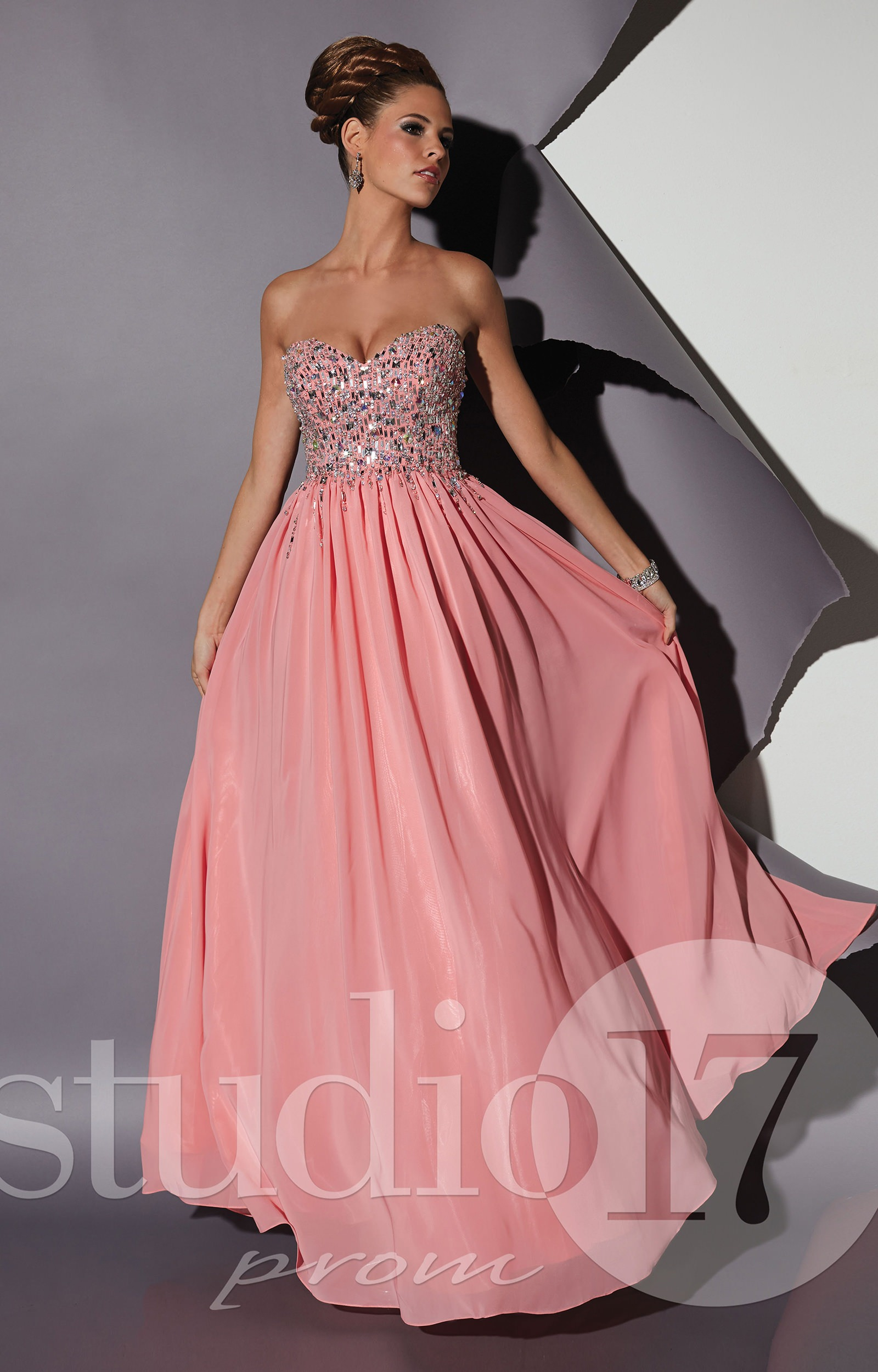 Studio 17 12452 - Flamingo Dreams Gown Prom Dress