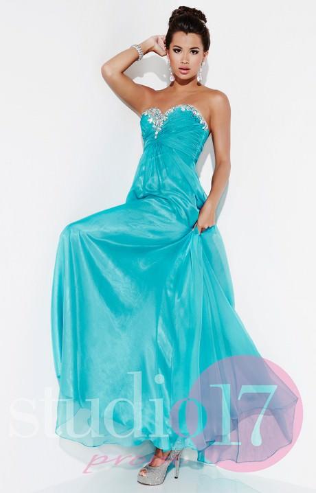 Studio 17 12492 - Stunning in Chiffon Gown Prom Dress