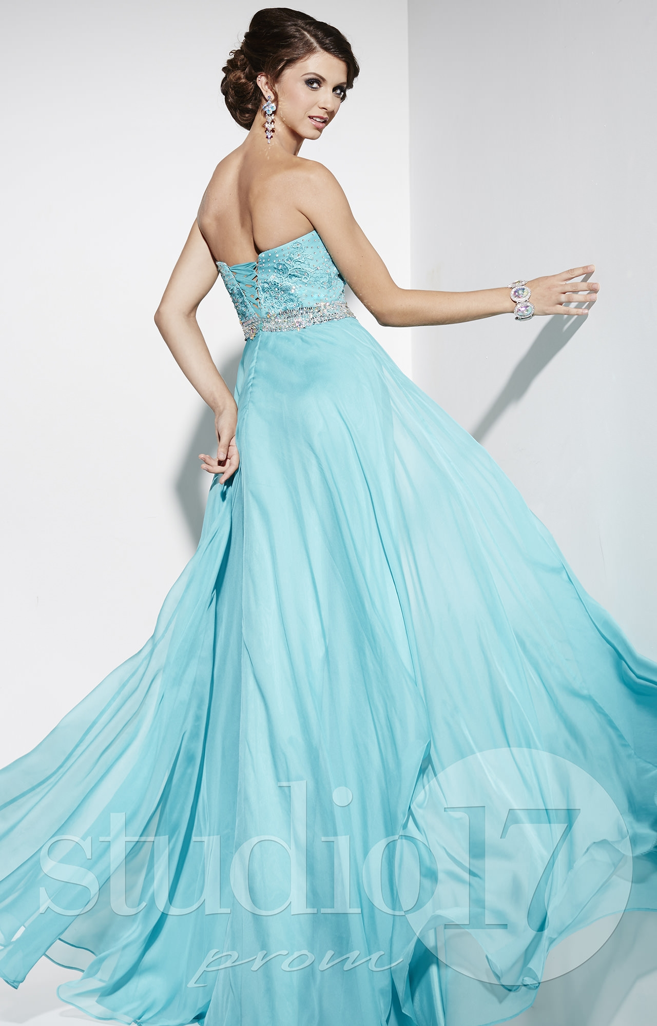 Studio 17 12549 - Effortlessly Chic Chiffon Gown Prom Dress