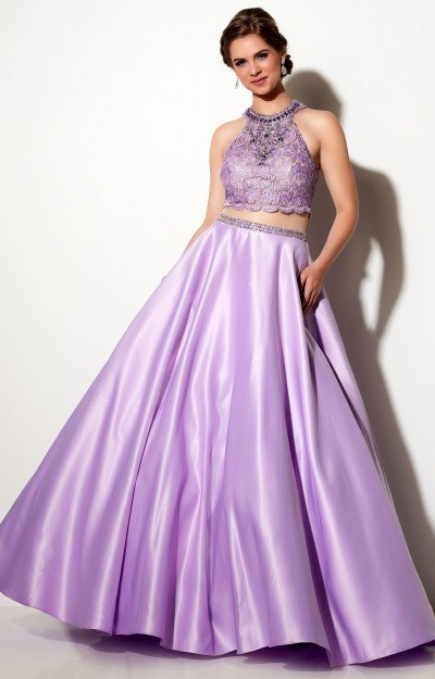 Satin Ballgown with Pockets