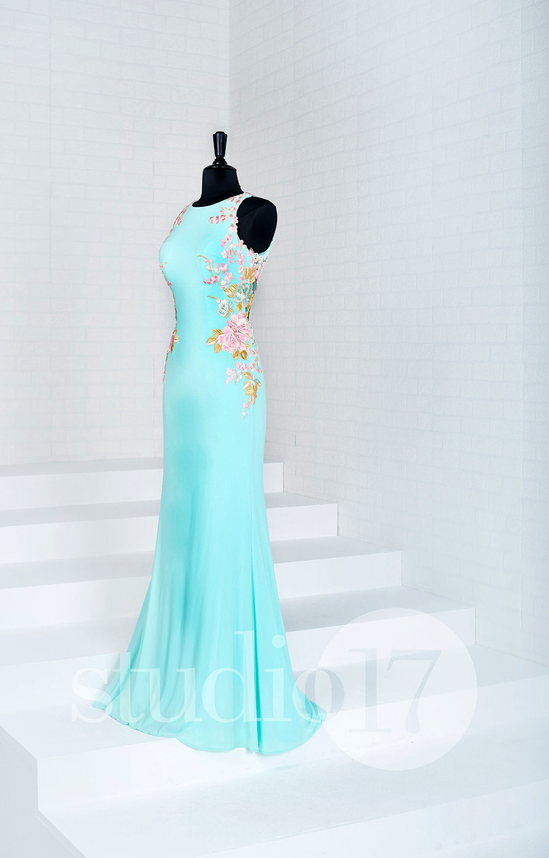 Studio 17 12691 - Long Fitted Jersey Prom Dress