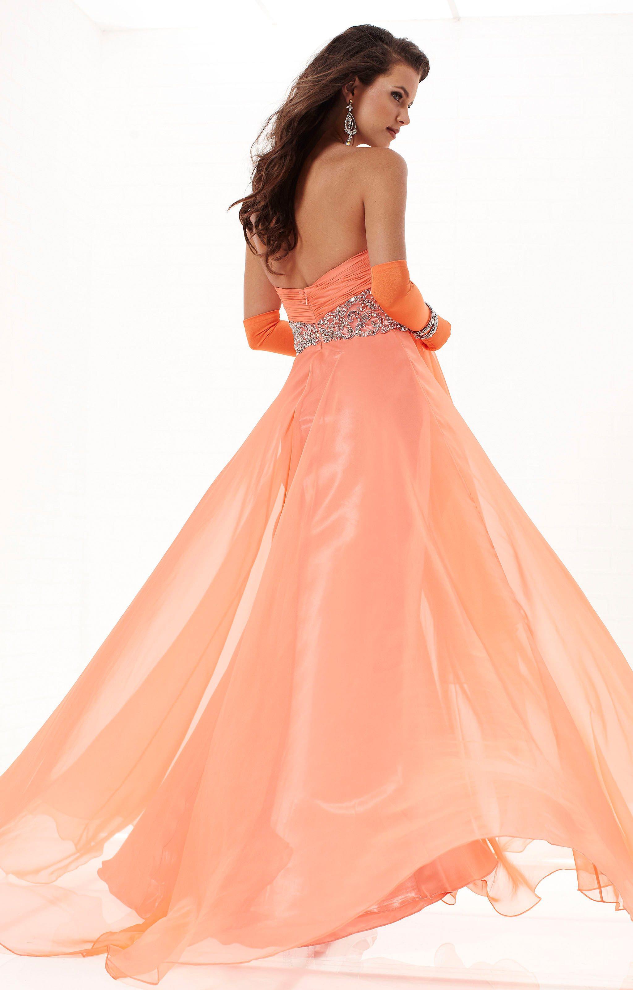 Tiffany Designs 16744 - Empire Waist Chiffon Dress Prom Dress