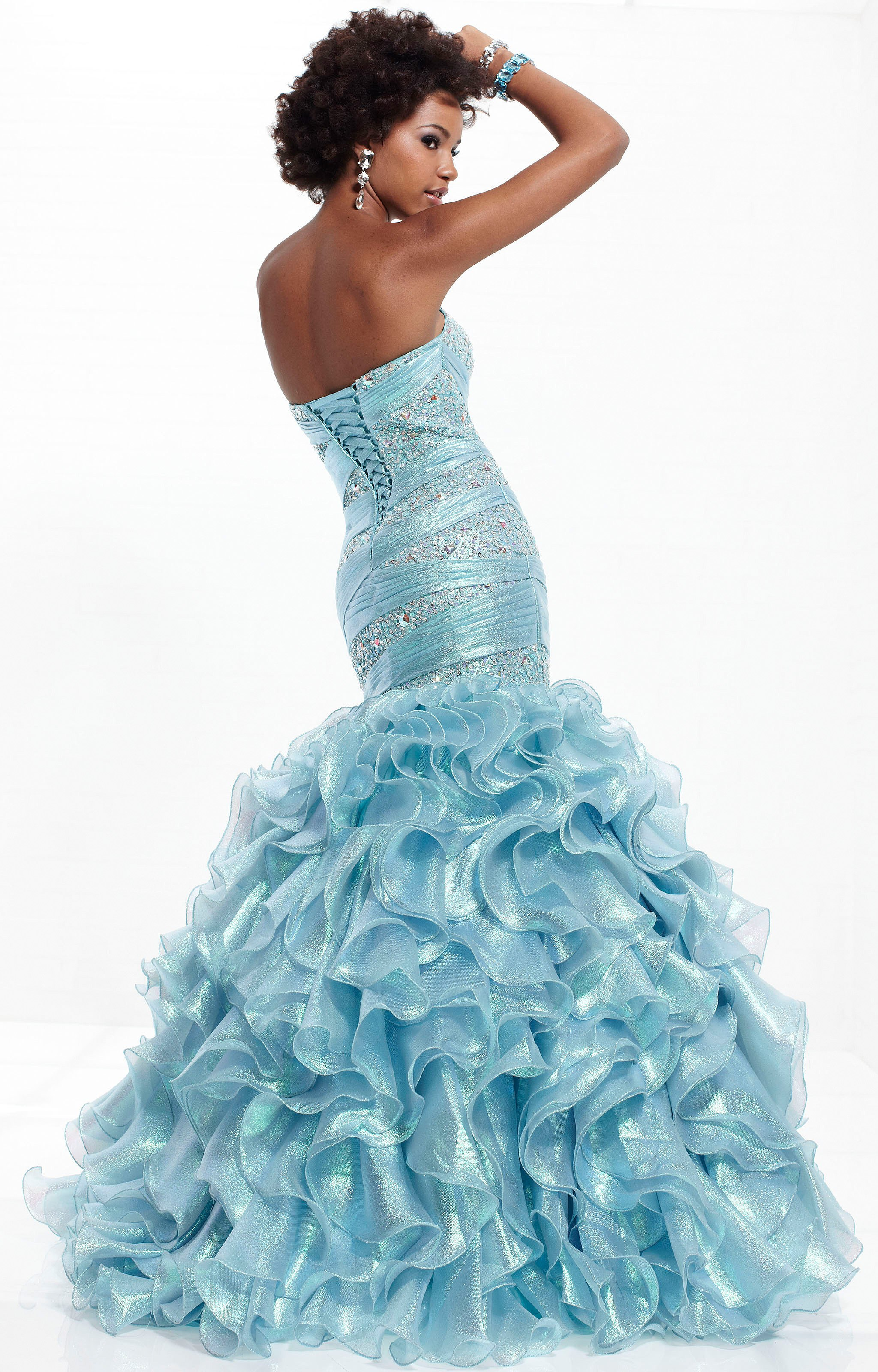 Tiffany Designs 16753 - Rosette Gown Prom Dress