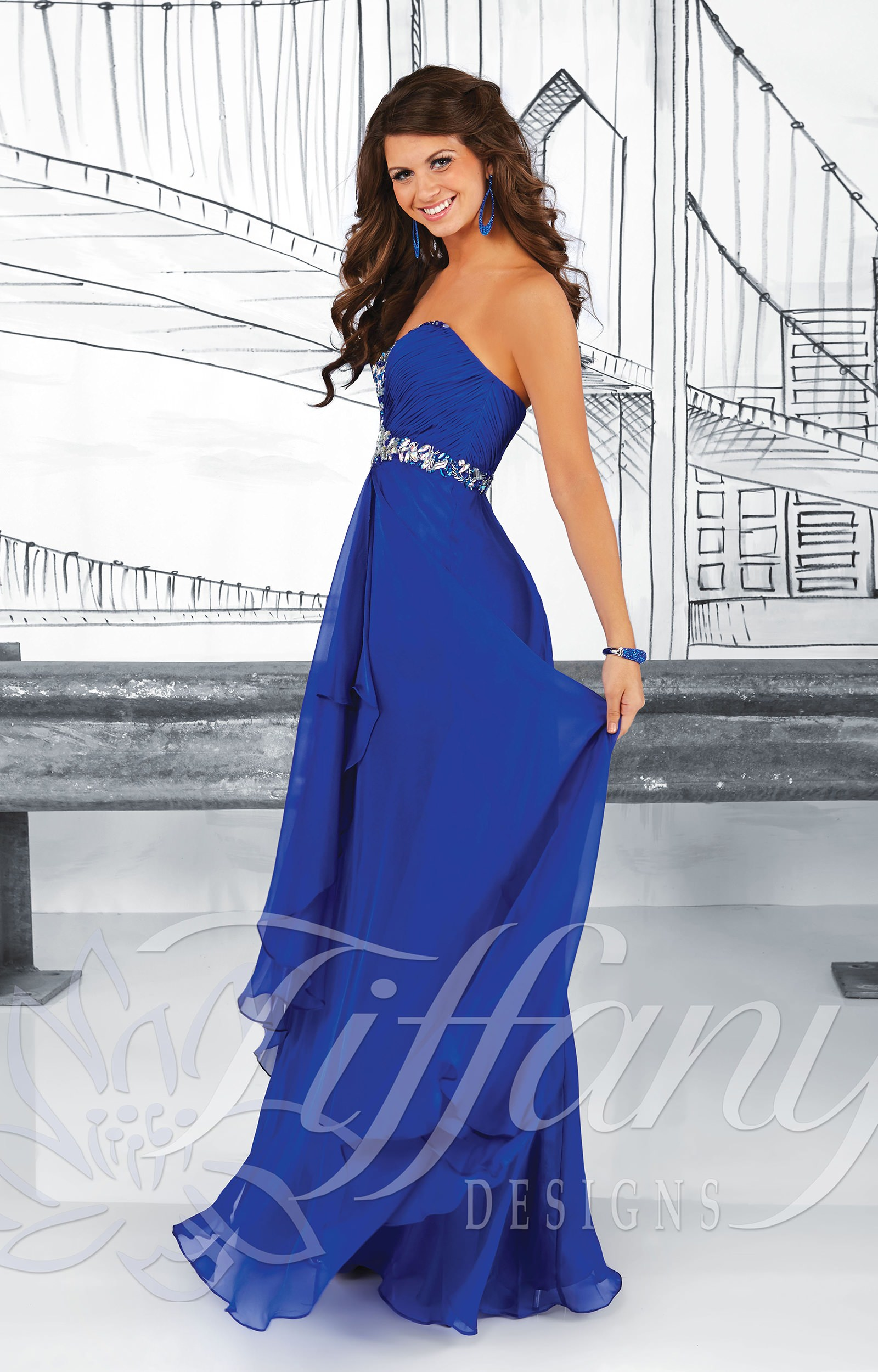 Tiffany Designs 16012 - Sassy Sweetheart Gown Prom Dress