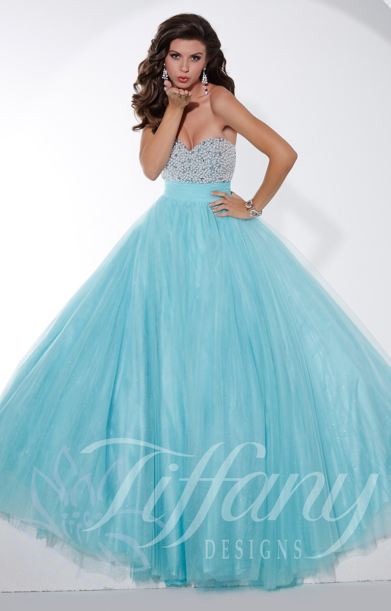 Tiffany Designs 61139 - Elegant Empire Gown Prom Dress