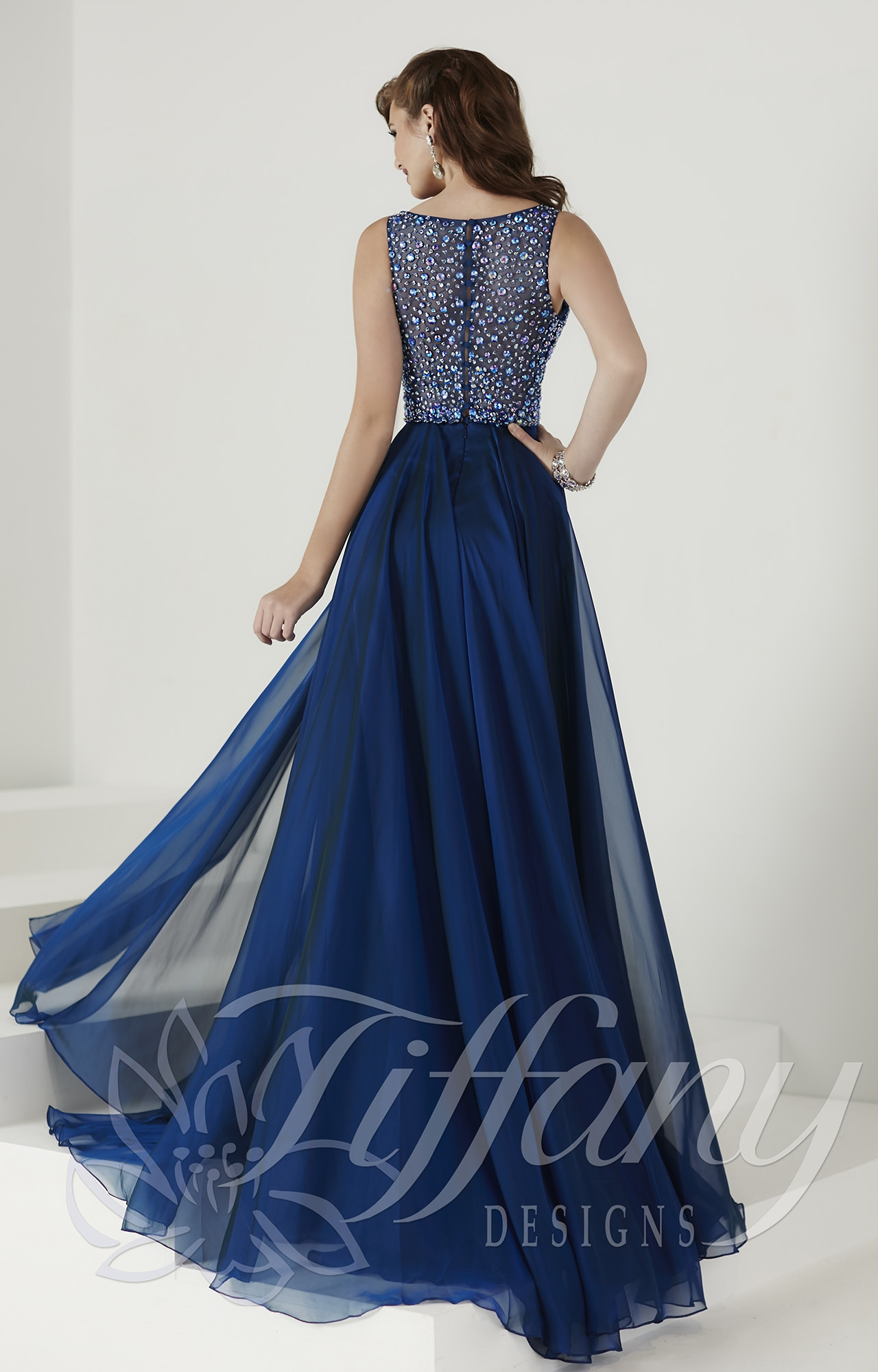 Tiffany Designs 16141 Strut Your Stuff Gown Prom Dress
