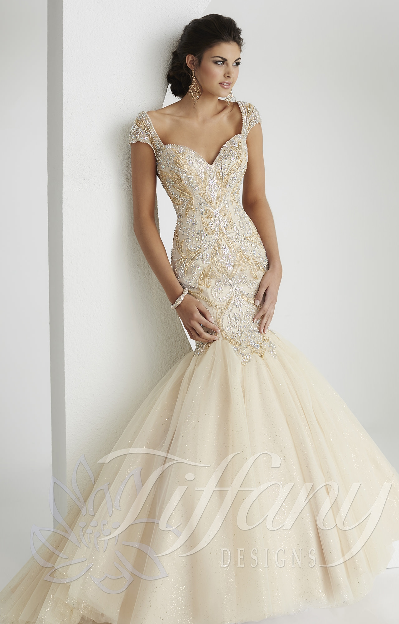 Tiffany Designs 16145 Gone With The Wind Dress Prom Dress