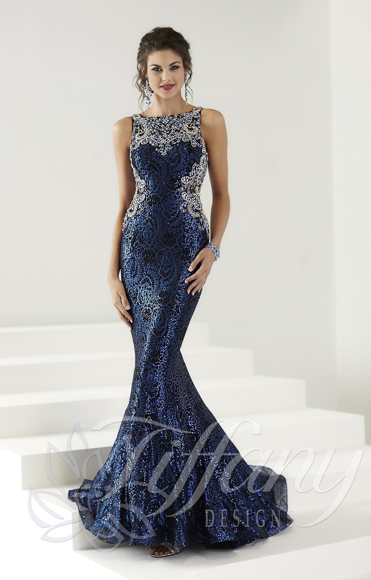 Tiffany Designs 16149 Shimmering Glamour Dress Prom Dress