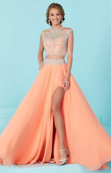 Tiffany Designs 16202 2 Piece Dress With High Slit Prom
