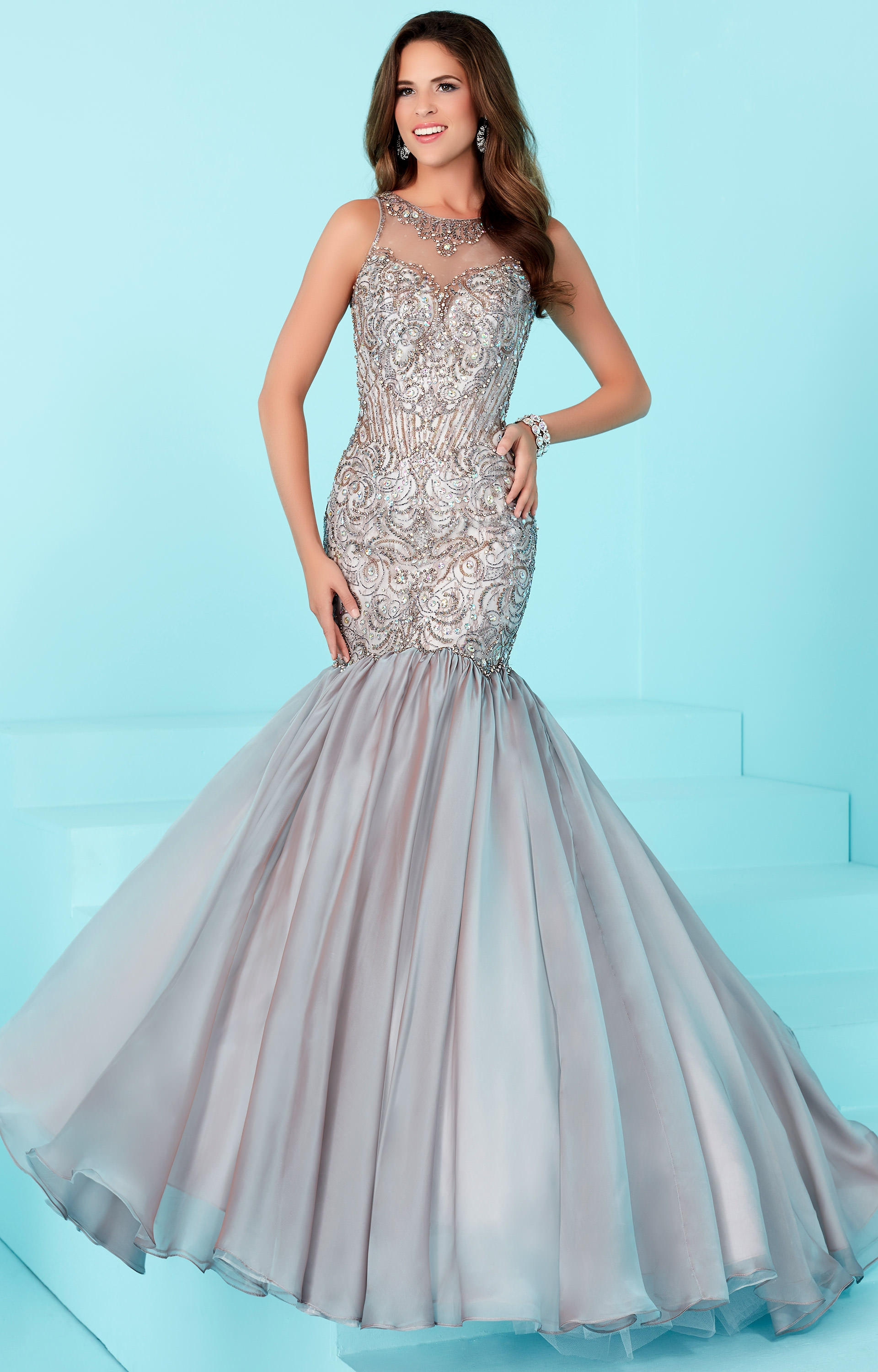Tiffany Designs 16205 Fully Beaded Mermaid With Straps