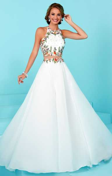 Orange Chiffon Its Fashion Metro Blouses Dark Brown: 2 Piece Dress With Open Back Prom