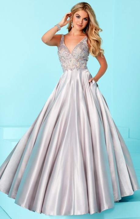 Tiffany Designs 16208 Sleeveless Beaded Top Ball Gown