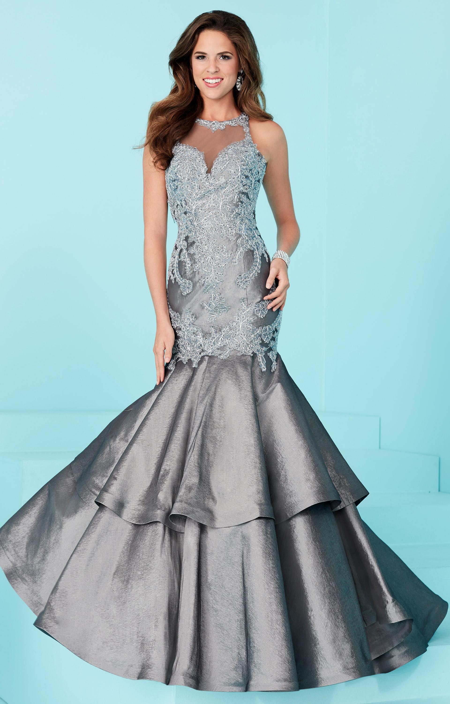 tiffany designs 16211 open back halter lace mermaid