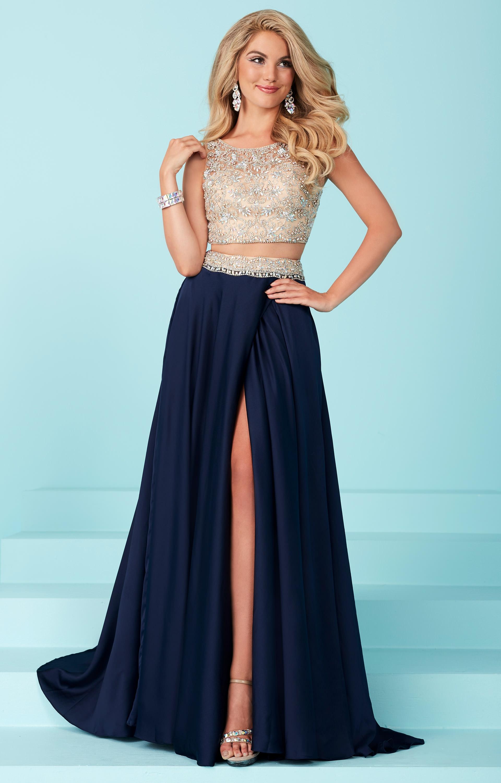 Open-Back Two-Piece Sherri Hill Dress - PromGirl