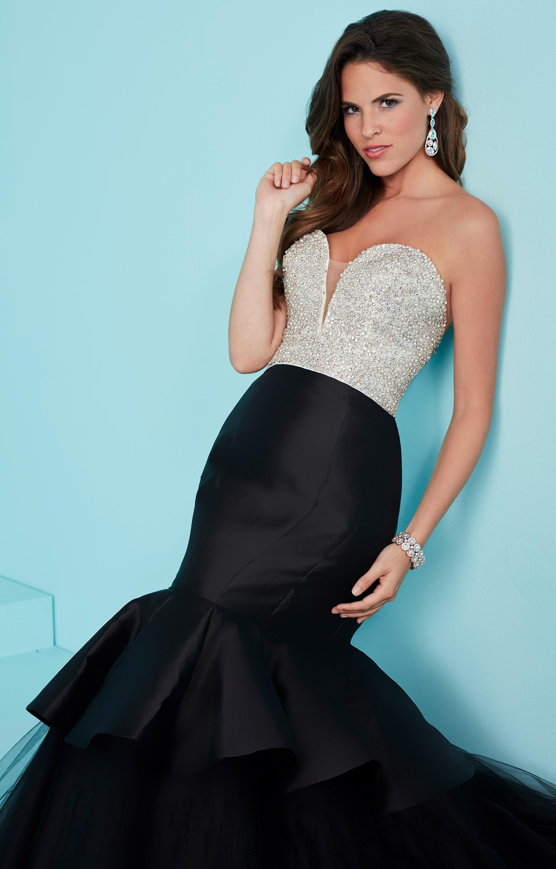 Tiffany Designs 16217 - Classy Strapless Mermaid Dress Prom Dress