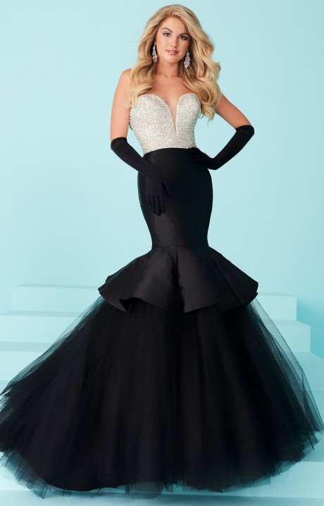 Tiffany Designs 16217 Classy Strapless Mermaid Dress