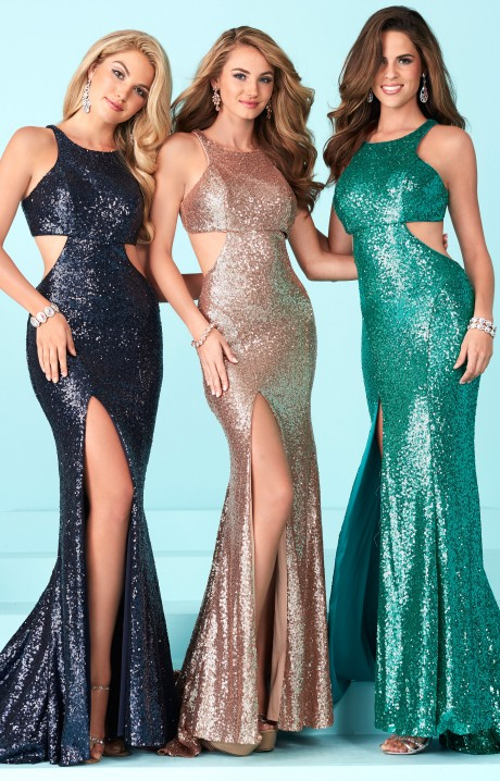 Tiffany Designs 16226 Full Sequin Fitted Dress With A