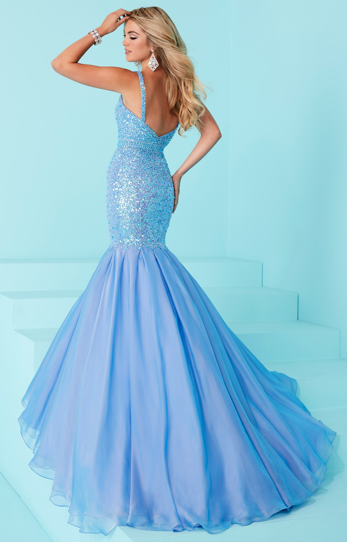 Tiffany Designs 16227 Plunging Beaded Iridescent Mermaid
