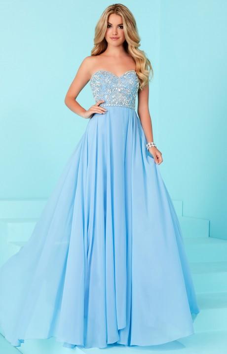 Tiffany Designs 16231 Strapless Chiffon Prom Dress