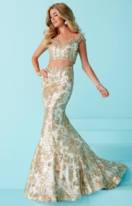 Tiffany Designs 16243 2 Piece Mermaid Lace Dress Prom Dress