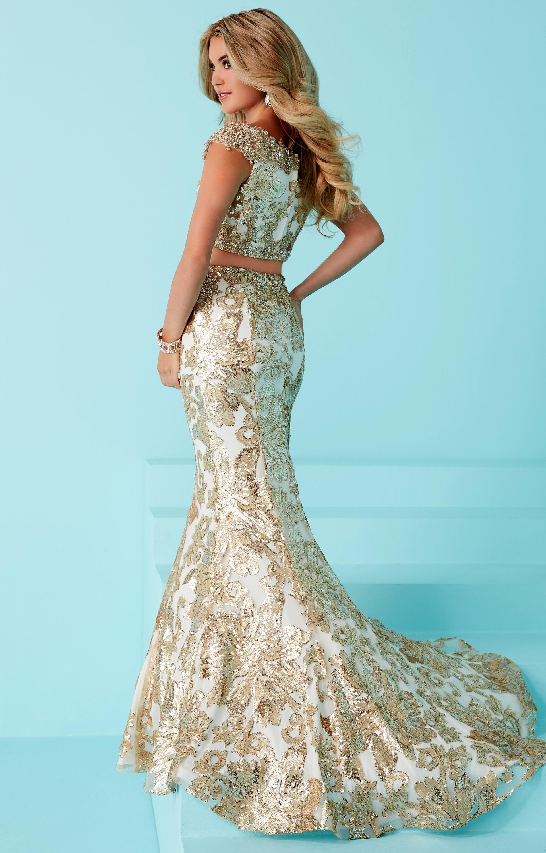 Tiffany Designs 16243 - 2 Piece Mermaid Lace Dress Prom Dress