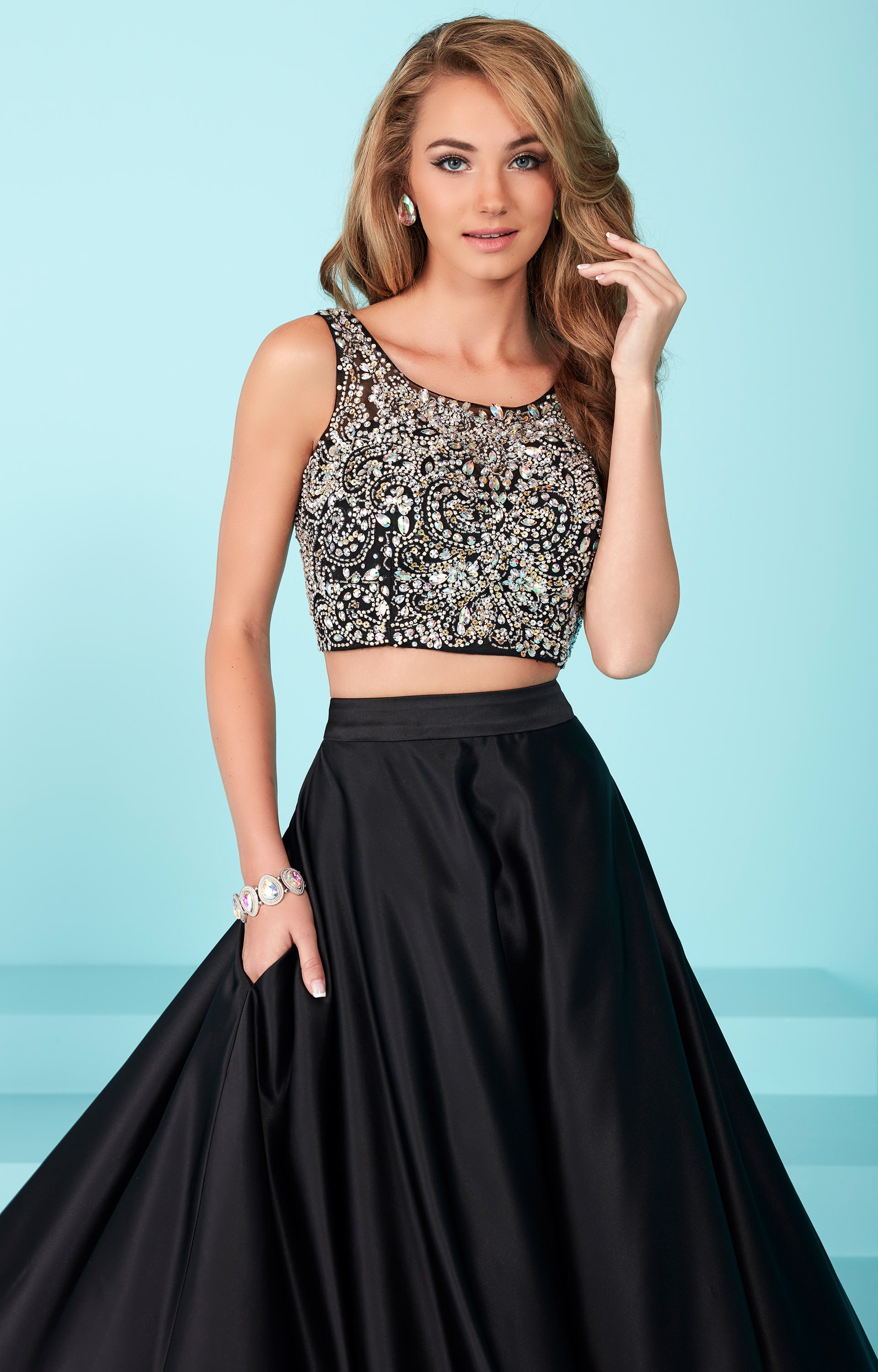 Toupe Detailed Long Dress