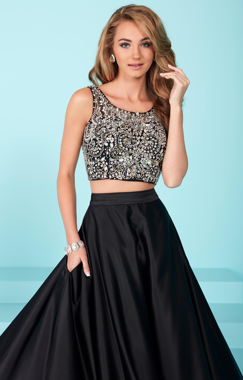 Tiffany Designs 16258 - Silky Beaded Two Piece Dress Prom Dress