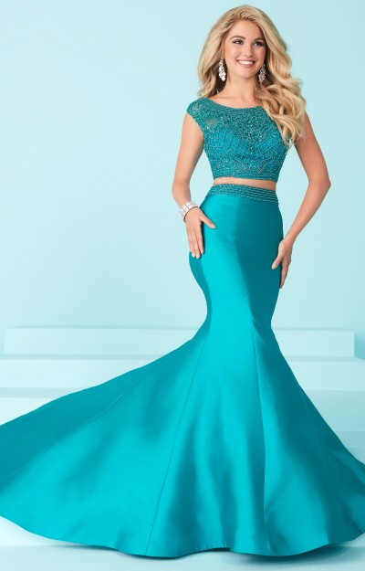 Solid 2 Piece Mermaid Dress
