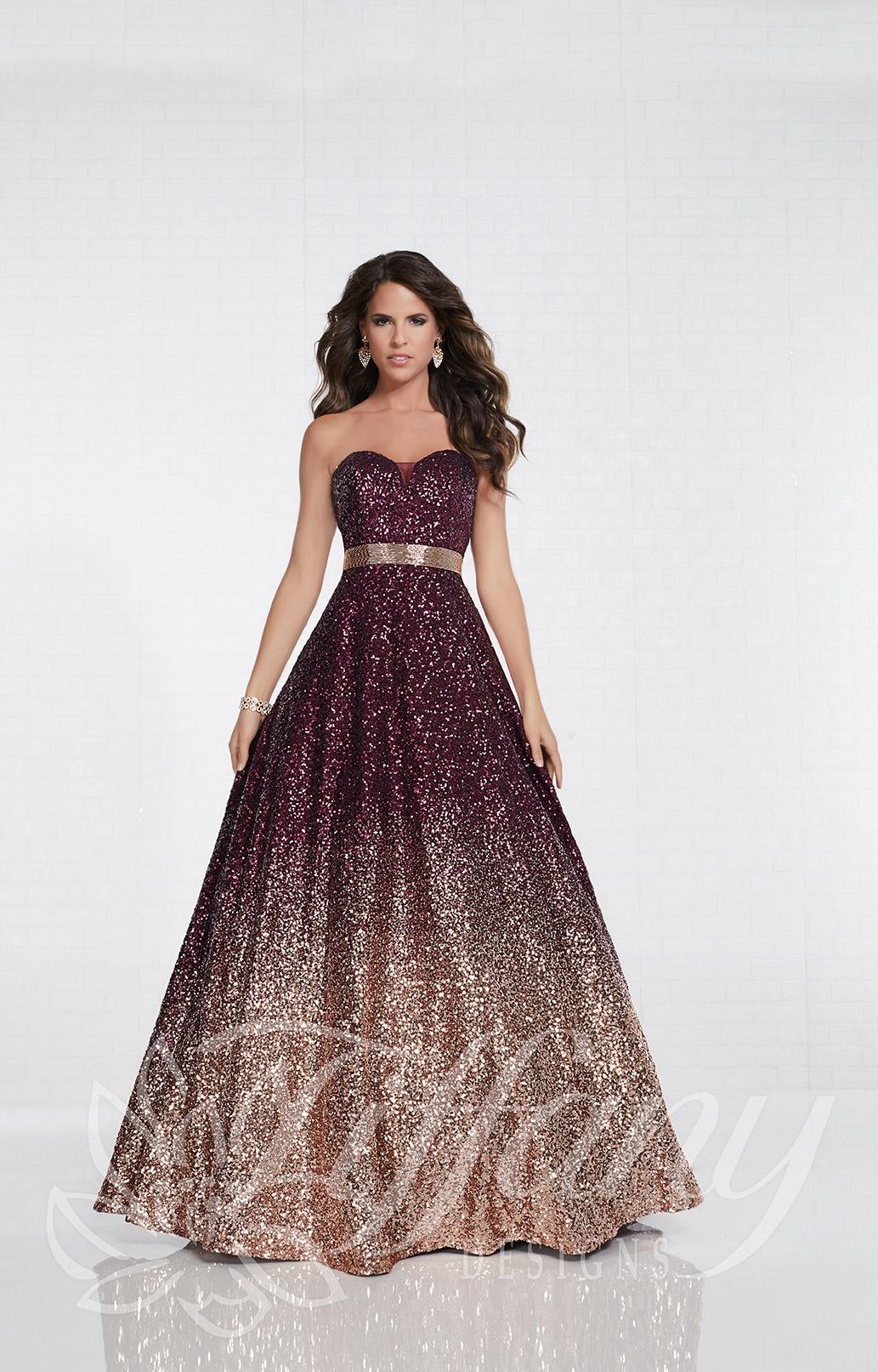 680ba1edc34 Tiffany Designs 16264 - Long A-Line Sequins