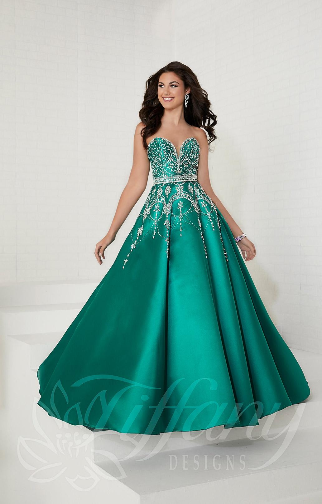 9ff96f462cb8 Tiffany Designs 16266 - Long Strapless Sweetheart Mikado