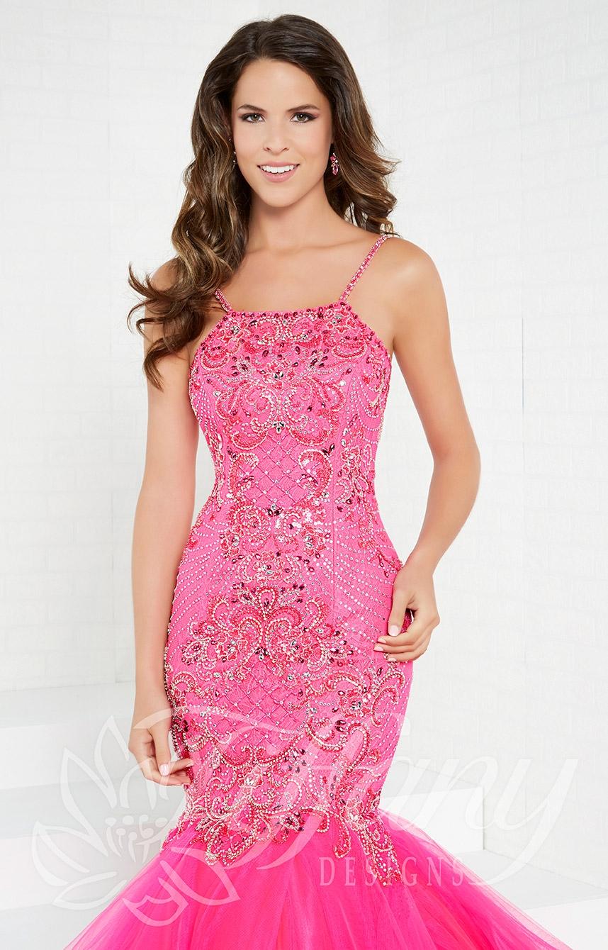 76fbb98280c Tiffany Designs 16280 - Long Beaded Lace Mermaid