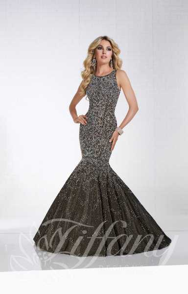 Tiffany Designs 16310 - High Neckline Full Sequin Open Back Mermaid ...