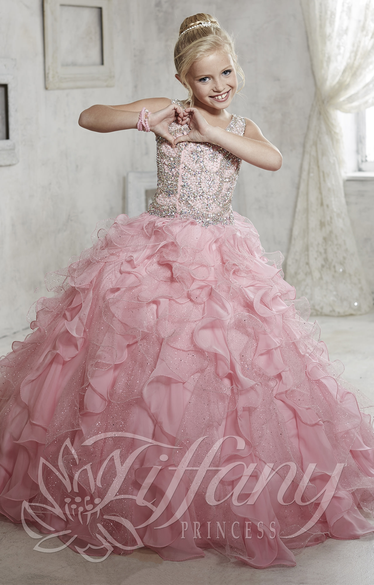 Tiffany Princess 13440 Strawberry Shortcake Dress Prom Dress