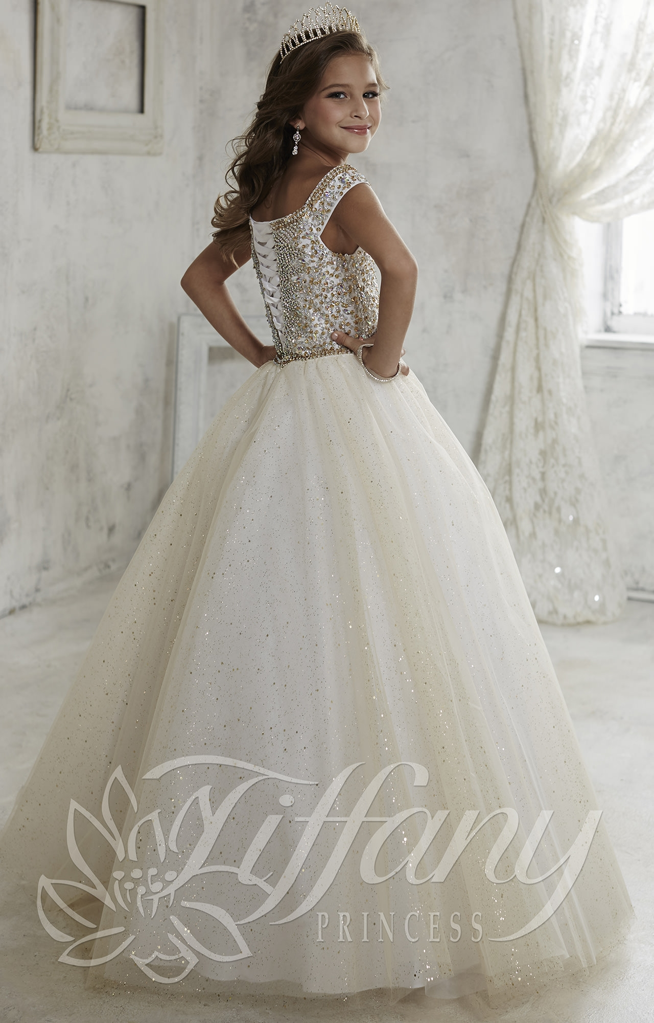 Tiffany Princess 13457 Princess Grace Gown Prom Dress