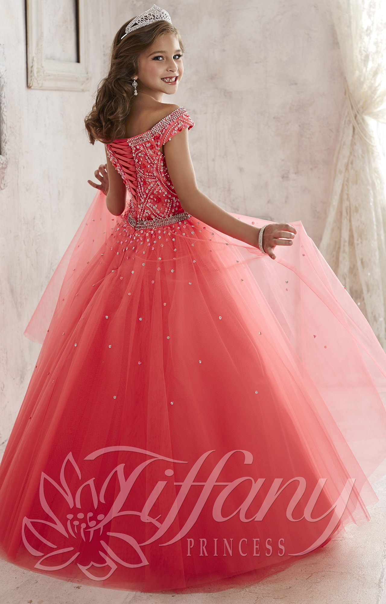 Tiffany Princess 13458 Coronation Gown Prom Dress