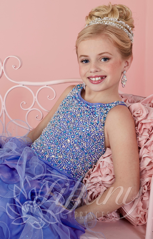 Tiffany Princess 13474 Little Miss Sparkle Dress Prom Dress