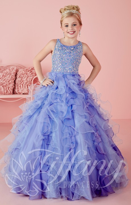Tiffany Princess 13474 - Little Miss Sparkle Dress Prom Dress