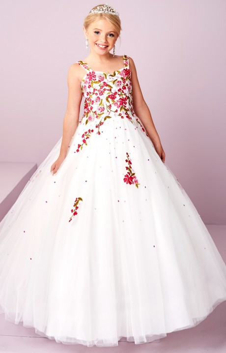 Tiffany Princess 13481 Embroidered Lace Tulle Gown Prom