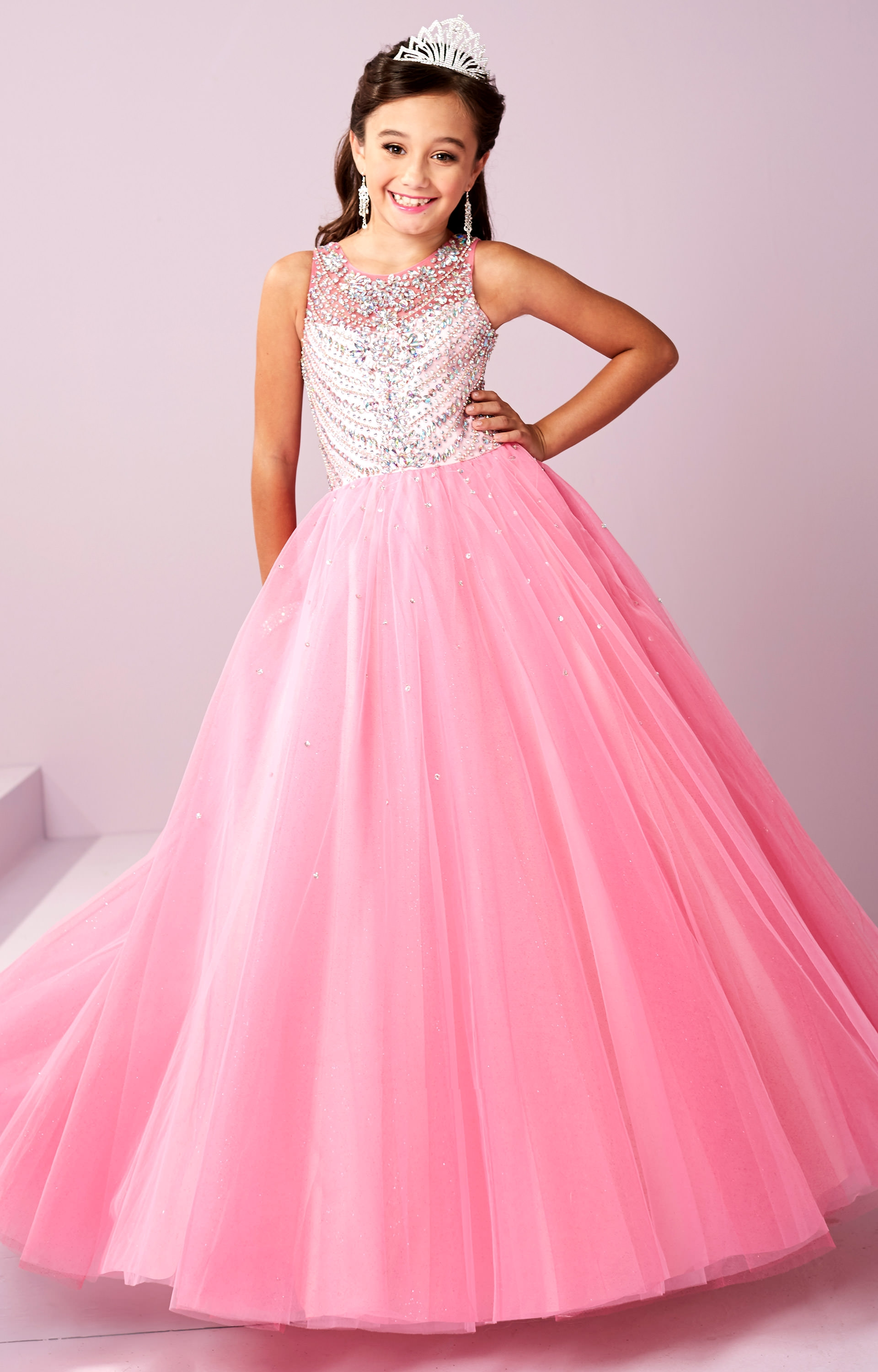 Tiffany Princess 13484 Beaded Sparkle Gown Prom Dress