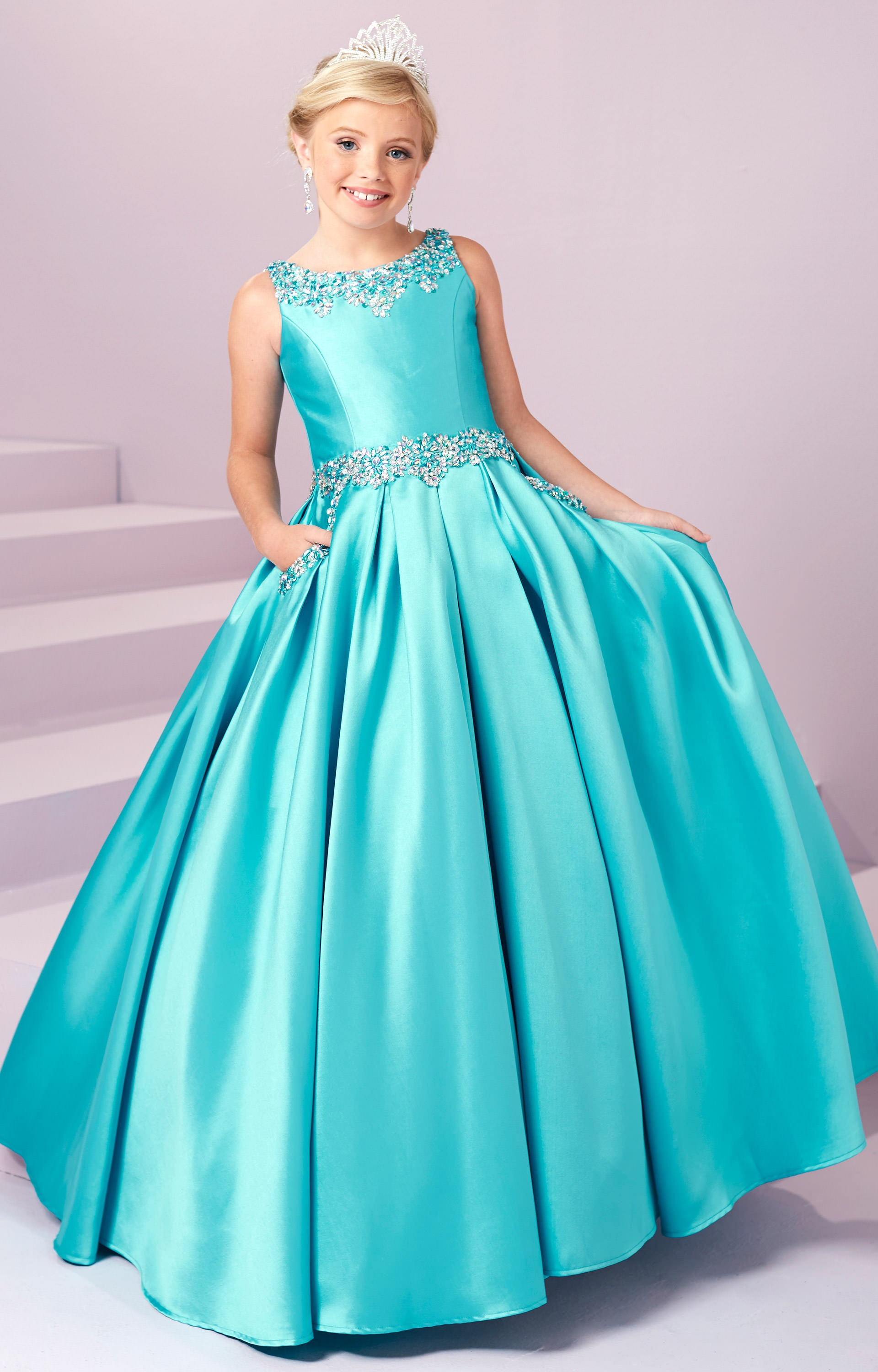Tiffany Princess 13485 Silk Ballgown Dress Prom Dress