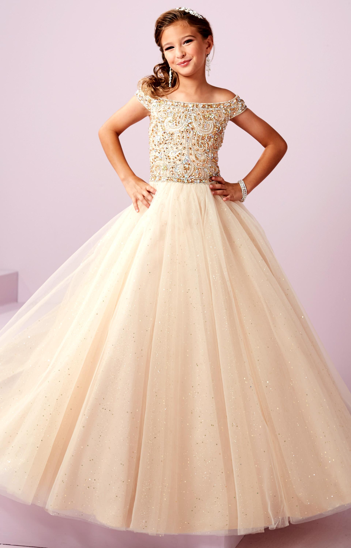 Tiffany Princess 13487 - Beaded Corset Ballgown Prom Dress