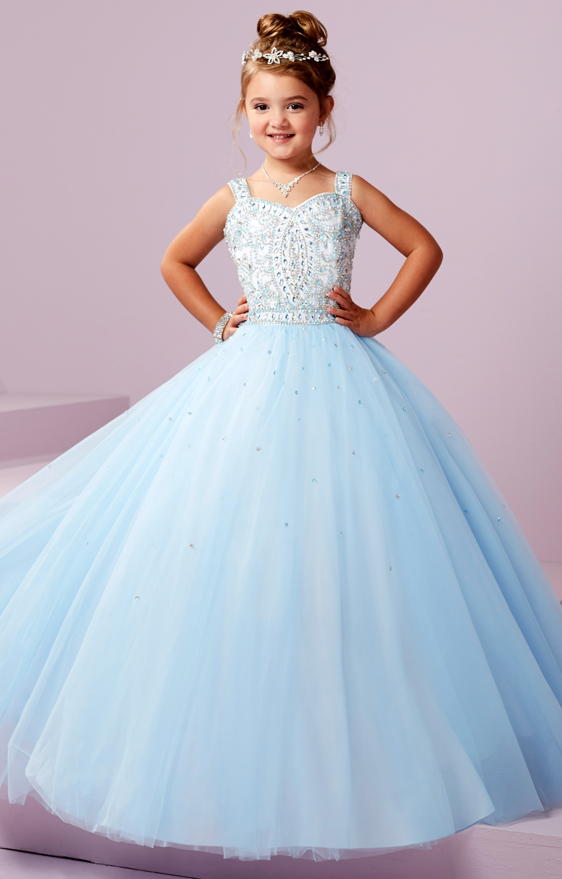 Tiffany Princess 13494 - Corset Back Sparkling Tulle Ball Gown Prom ...